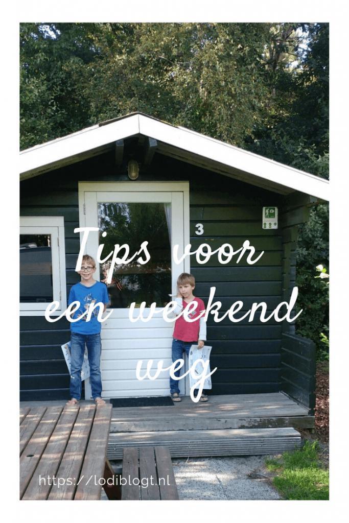 Tips voor een weekend weg