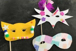 carnaval maskers knutselen