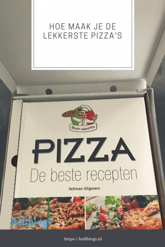 Het beste recepten boek voor pizza's