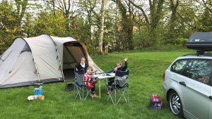 kamperen met een tent vakantie