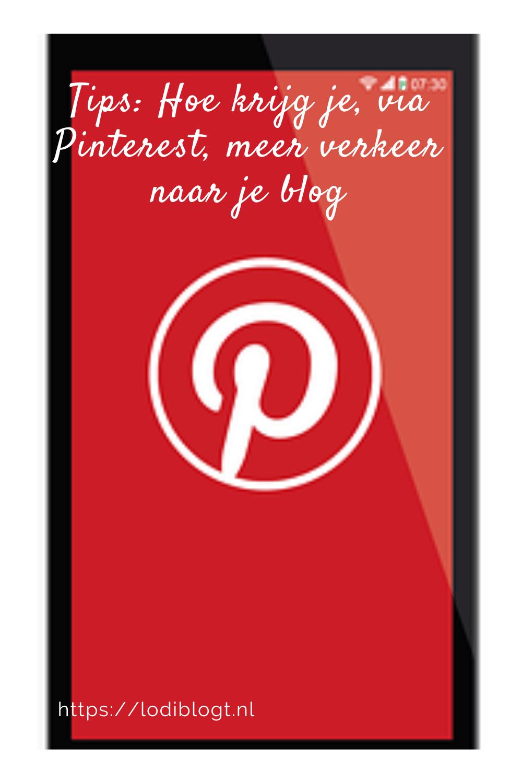 Tips: Hoe krijg je, via Pinterest, meer verkeer naar je blog
