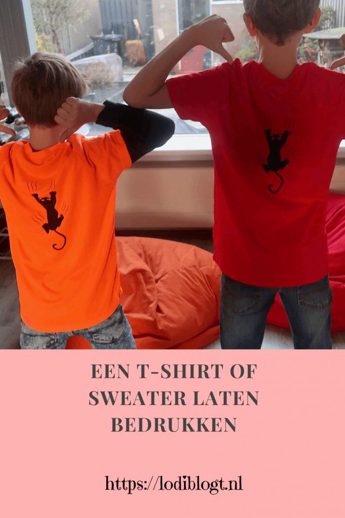Een shirt of sweater laten bedrukken