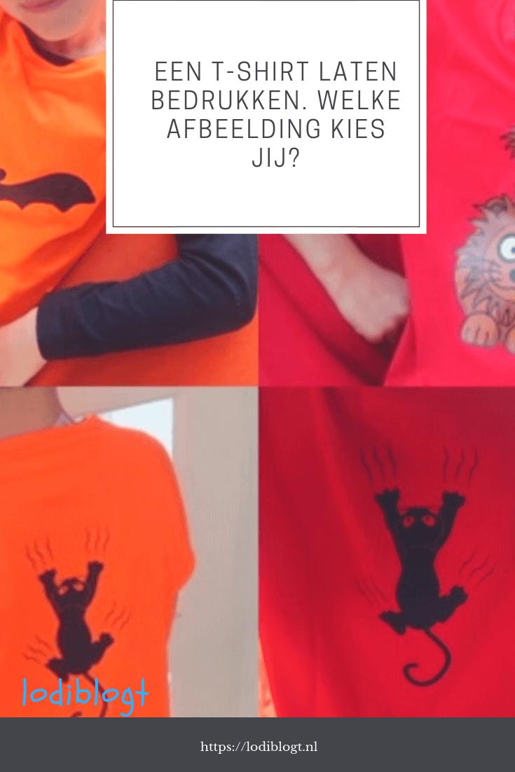 Een t-shirt laten bedrukken. Welke afbeelding kies jij?