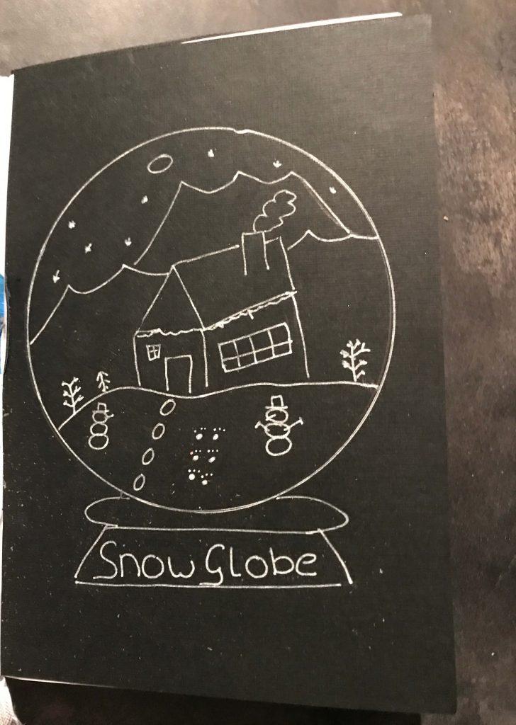 bullet journal snow globe creachickdecemberchallenge