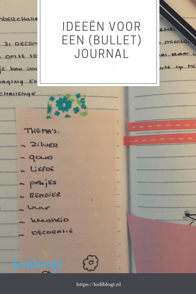 ideeën voor je (Bullet) journal #bujo