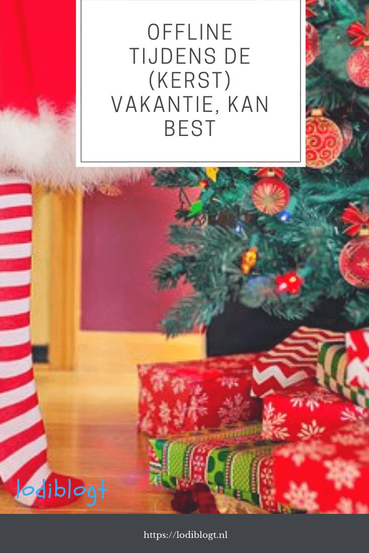 Even offline zijn tijdens de kerstvakantie kan best. #blog #feestdagen