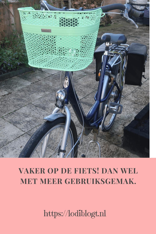 Vaker op de fiets! Dan wel met meer gebruiksgemak.