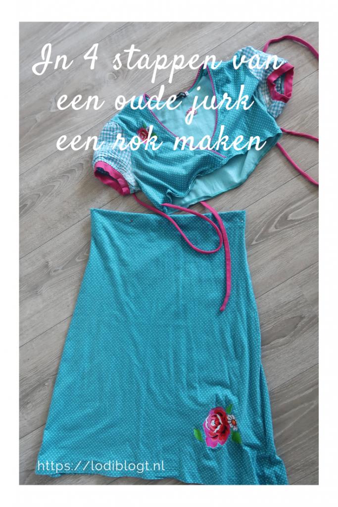 In 4 stappen van een oude jurk een rok maken #tip #ideas