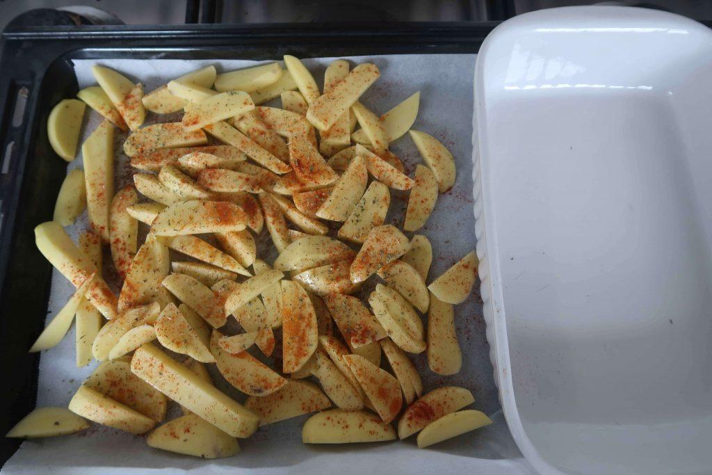 kip patat en sla