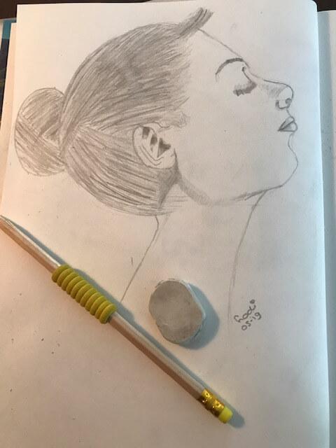 portret tekenen met potlood