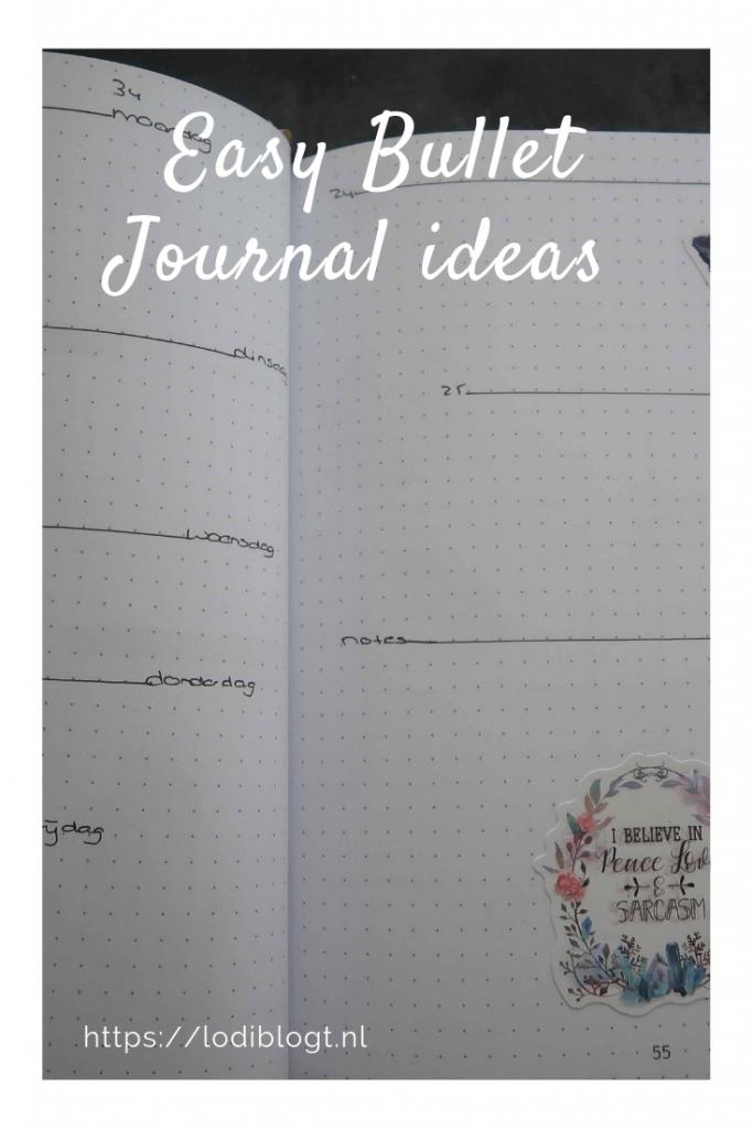 Bullet Journal ideas augustus