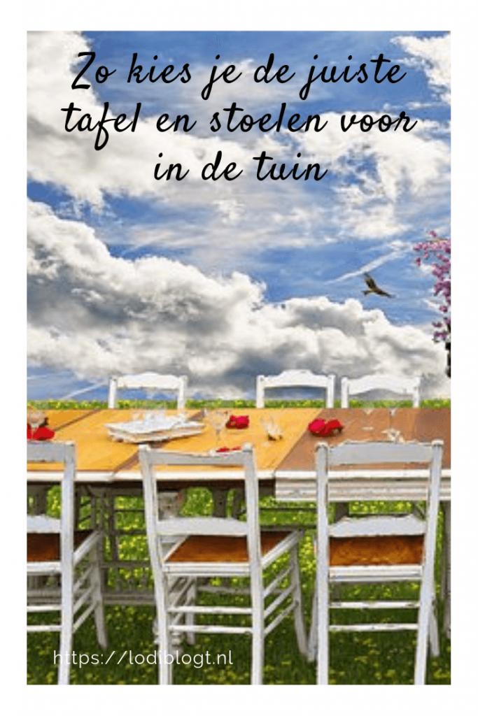 hoe kies je nu de juiste tafel en stoelen voor in de tuin? #tips #ideas