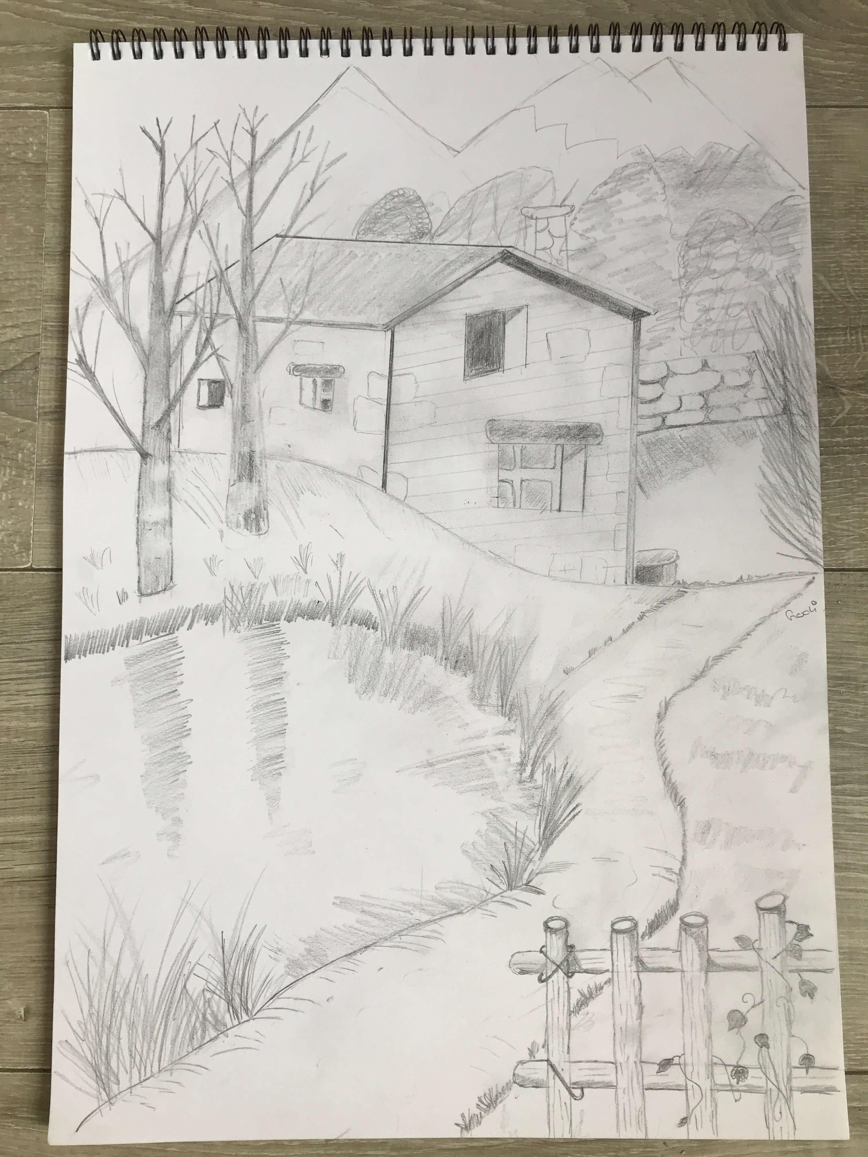 landschap tekenen
