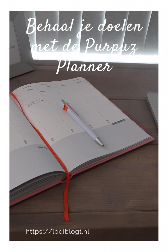 Behaal je doelen met de Purpuz Planner #tips #ideas