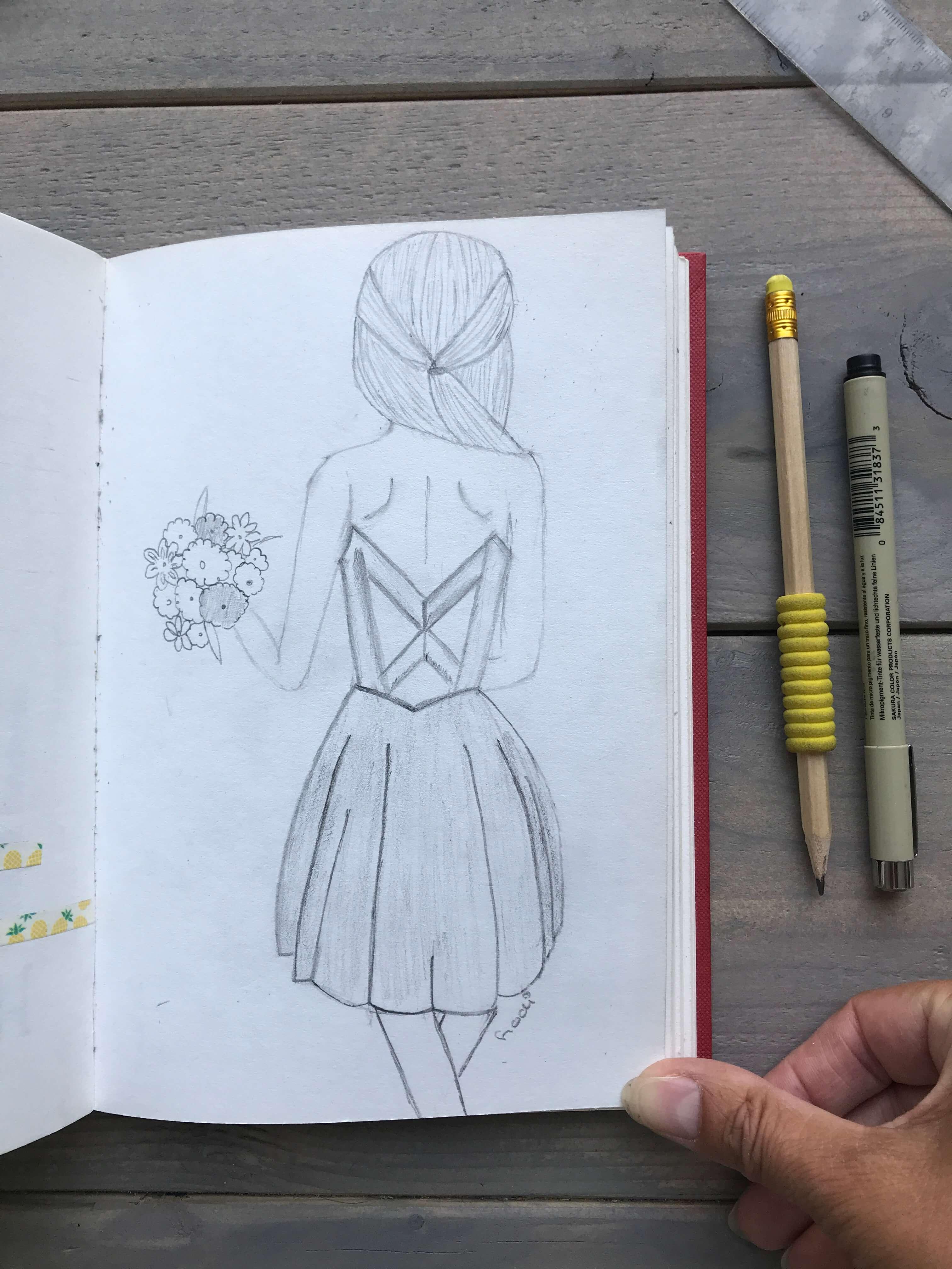 zomer tekening art journal