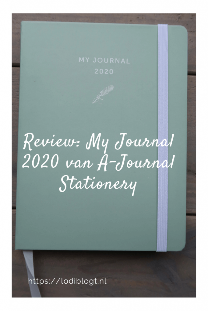 Review: My Journal 2020 van A-Journal Stationery