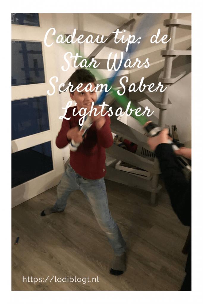 Cadeau tip: de Star Wars Scream Saber Lightsaber