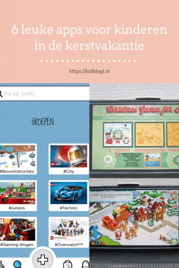 6 Leuke apps voor kinderen in de kerstvakantie #tips