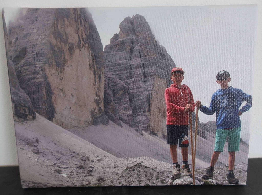 Drei Zinnen Dolomieten foto op Canvas