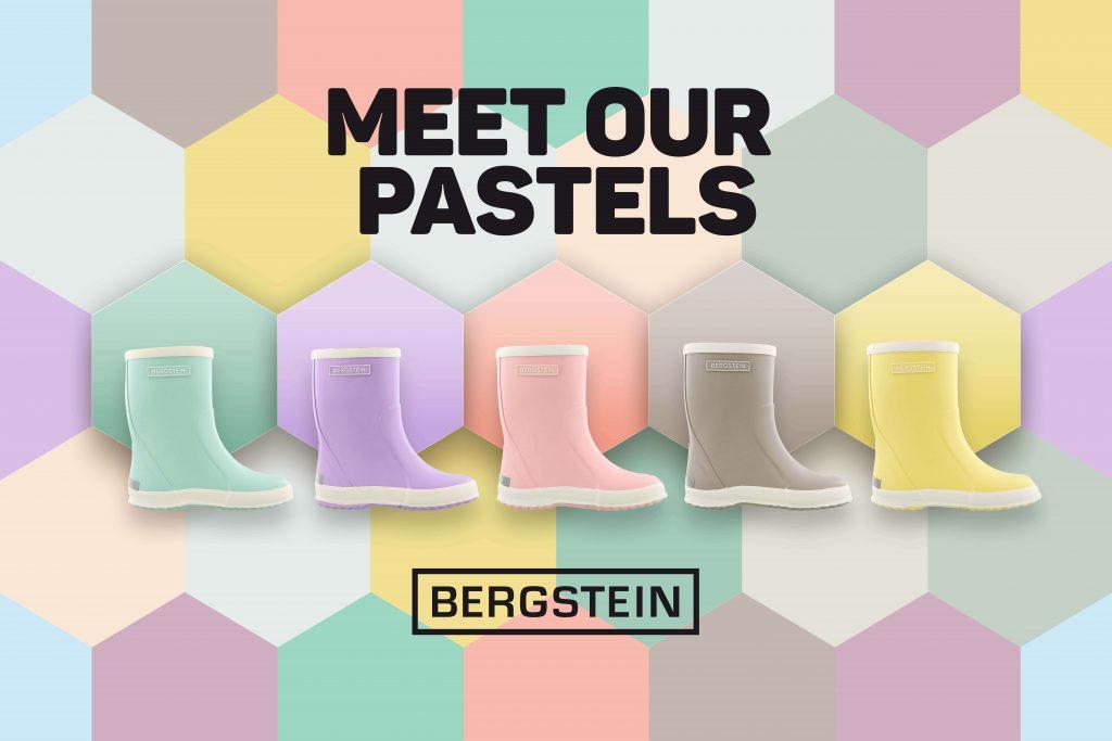 Nieuw van Bergstein. Regenlaarsjes in pastel kleur