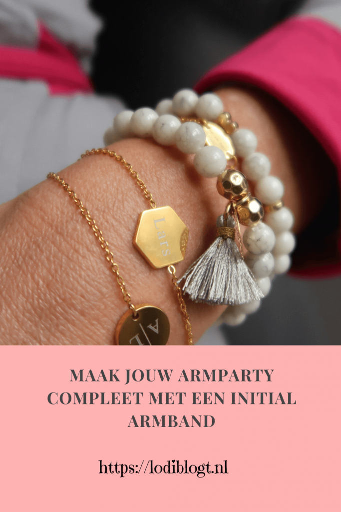 Maak jouw armparty compleet met een initial armband