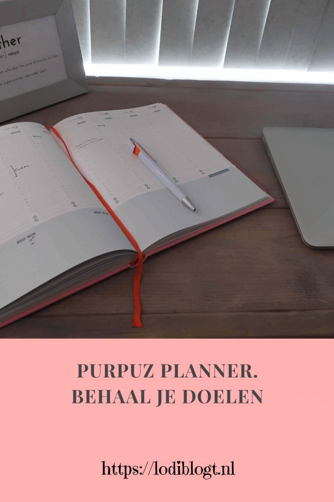 Purpuz planner. Behaal je doelen #tip