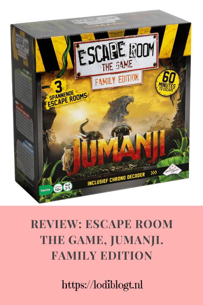 Review: Escape Room The Game, Jumanji. Family Edition #tip