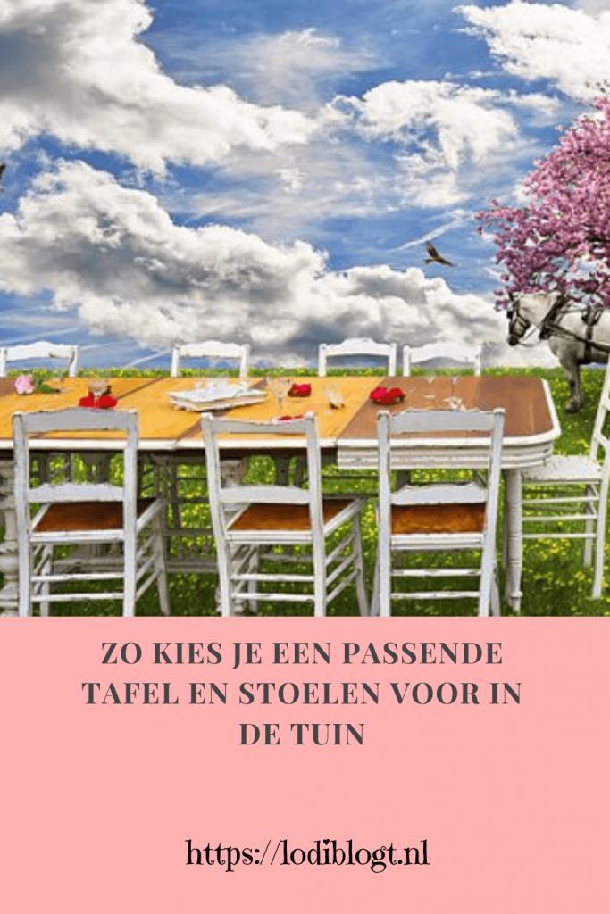 Zo kies je een passende tafel en stoelen voor in de tuin #tips