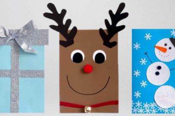 DIY kerstkaarten maken