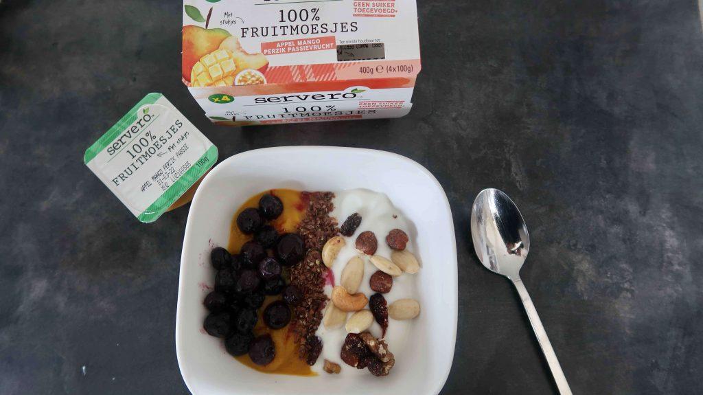 Fruitmoesjes, lekker en ideaal voor een gezond ontbijt
